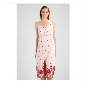 Topshop button down floral midi dress